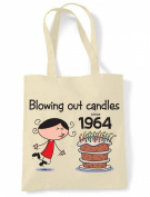 Blowing Out Candles Since 1964 50th Birthday Tote / Shoulder Bag