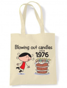 Blowing Out Candles Since 1976 40th Birthday Tote / Shoulder Bag