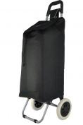 "Hoppa, 1 year warranty, 23"", Black, Lightweight hard wearing and light weight microfiber material wheeled shopping trolley, 60x24x33cm, 47L, 1.82kg"