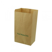 All-Green 8 Litre Paper Compostable Caddy Bin Liners with 100 Bags, Brown