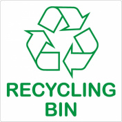Recycling Bin Self-adhesive Sticker - Recycle Logo Sign - Environment Label
