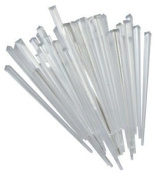 50 Contemporary Clear Prism Cocktail Sticks 8.9cm Long 3308C