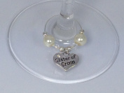 Individual ' Sister of Groom ' Wine Glass Charm by Libby's Market Place
