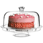 Multifunctional 5 in 1 Cake Stand and Dome | dine@drinkstuff Cake Dome, Punch Bowl, Salad Bowl, Chip & Dip Server, Serving Stand, Food Dome
