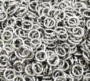 100 6mm silver plated jump rings
