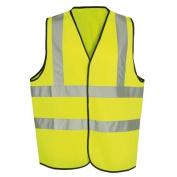 Hi-Vis Childrens Yellow Waistcoat Small