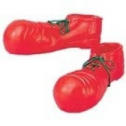 Adult Red Giant Xl Plastic Clown Shoes Bootsfancy Dress