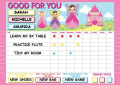 Pink Fairy Reward Star Chart - Massive 61cm x 40cm for upto 3 children!