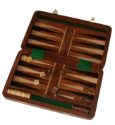 Fair trade Wooden Folding 25cm Backgammon set