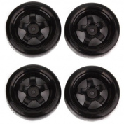 5 Spoke Black Wheel Rims & Smooth Tyres RC 1