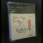 50th Birthday Party Invitations {Holographic} 36 Multipack Cards With Envelopes