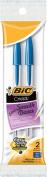 Bic Bic Cristal Stic Ball Pens, Medium Point, Blue, 2-Pack
