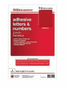 Adhesive Letters and Numbers - 7.6cm Helvetica Red