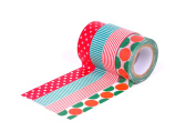 HIART Repositionable Washi Tape, Dots and Stripe Christmas Select, Set of 4