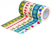 HIART Repositionable Washi Tape, Christmas Premium Value Collection, Set of 5