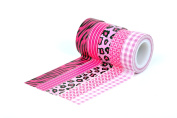 HIART Repositionable Washi Tape, Girl`s Collection Pink Diva, Set of 5