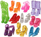 Dragonpad 10 Pairs of Doll Shoes, Fit Barbie Dolls