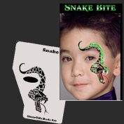 Face Painting Stencil - StencilEyes Profile Snake