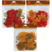 50 Count Assorted Fall Coloured Nylon Leaves