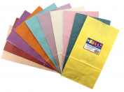 Hygloss 66250 Coloured Paper Bags, 50, Assorted Colours, 15cm by 8.9cm by 28cm