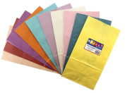 Hygloss 64250 Coloured Paper Bags, 50, Assorted Colours, 13cm by 7.6cm by 25cm