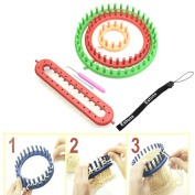 Estone® 4 Size Looms Kit Series Knitter Knitting Spool Loom Make Hats/Booties/Scarves