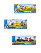 Nickelodeon Paw Patrol Racers Set of 6 Racers Marshal, Rubble, Rocky, Chase, Zuma, Ryder with Paw Patrol Action 3 Pack Pup Figures includes Skye,