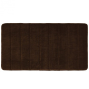 Townhouse Rugs Luxurious 50cm by 90cm Memory Foam Bath Rug, Brown