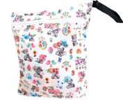 "Kawaii Baby Zippered Wet Bag Large 41cm X 50cm "" Bear """