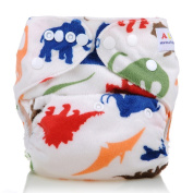 Reusable Washable Microfleece One Size Cloth Nappies, Muticolor Animals