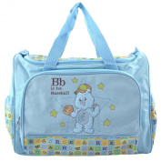 Care Bears Blue B for Baseball Large Baby Nappy Bag + Changing Pad