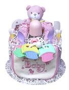 Babygiftidea 1 Tier Girl's Nappy Cake