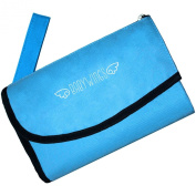 Changing Pad - Travel Changing Pad for Baby - Foldable Blue Portable Nappy Table Change Mat with Carrying Strap and Waterproof Pads Great for Changing Stations - 30 Day. Bonus Ebook