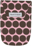 Diapees & Wipees Nappy Pouch with Wipes Case - Pink Polka Dots