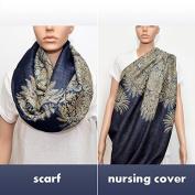 Nursing Cover - Nursing Scarf - Nursing Infinity Scarf - Breastfeeding Cover