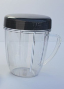 1 NutriBullet 530ml Handled Short Cup + 1 Stay Fresh Resealable Lid, New