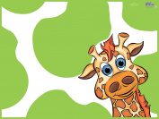 KidKusion High Chair Splat Mat, Green