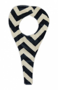 Caught Ya Lookin' Boy's Baby Binky Holder, Navy Chevron