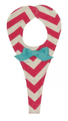 Caught Ya Lookin' Girl's Baby Binky Holder, Pink Chevron