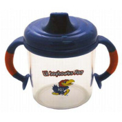 Officially Licenced NCAA Kansas Jayhawks College Colours Infant/Baby No Spill Mug