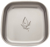 Untangled Living Anyware Collection Stainless Steel Plate, Splash/Silver