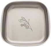 Untangled Living Anyware Collection Stainless Steel Plate, Freedom Branch/Silver