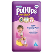 Huggies Pull Ups Night Time Potty Training Pants for Girls Size 6 Large 16-23kg