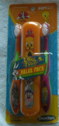 Looney Tunes Toothbrush Value Pack - 2 Toothbrushes & 1 Storage Case - Soft