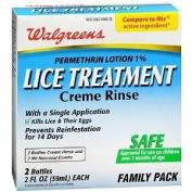 Walgreens Lice Treatment Creme Rinse 2 pack 1180ml