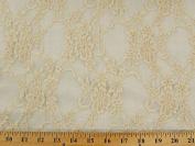 SyFabrics stretch lace fabric 150cm wide Champagne