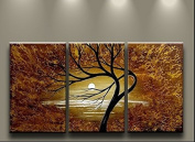 Framed Huge Hand Painted Abstract Rich Tree Oil Painting On Canvas Wall Art Pictures For Living Room Wall Decor Hang Paintings Craft Ready to Hang