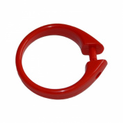 Plastic Shower Curtain Ring. Snap-lock (Set of 12) Red