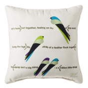Hang Out Together Birds Decorative Outdoor Throw Pillow