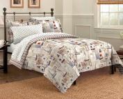 Cape Cod Seaside Sailing Nautical Bedding Comforter Set